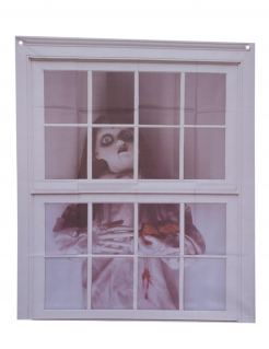 Horrorpuppe-Fensterbild Halloween-Fenster-Deko 75 x 90 cm