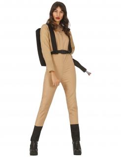 Geisterjäger-Kostüm für Damen beigefarben-schwarz