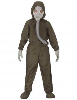 Nuklearer Einsatztrupp Kinderkostüm grau-khakifarben