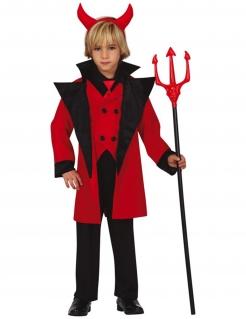 Teufelkostüm für Kinder Halloweenkostüm schwarz-rot