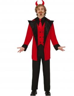 Herrscher der Hölle Teufel-Kostüm für Herren rot-schwarz