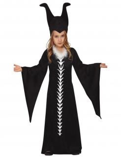 Zauberin-Kostüm für Kinder dunkle Mystikerin schwarz
