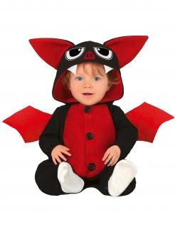 Fledermaus Kinderkostüm Halloweenkostüm schwarz-rot
