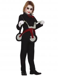 Mörder-Puppe-Kostüm für Kinder mit Dreirad chwarz