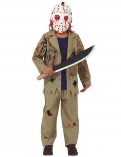 Mörder-Kostüm mit Maske Halloween-Kostüm für Kinder