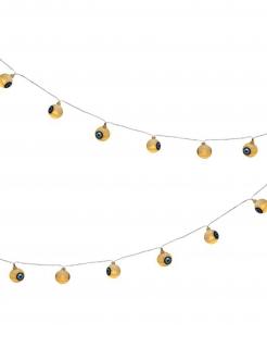 Augen-Lichterkette für Halloween Partydeko beige-blau 160 cm