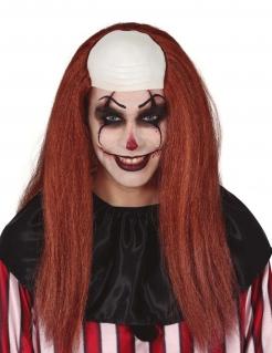 Psycho-Clown Langhaarperücke für Erwachsene rot