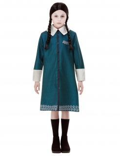 Kostüm für Mädchen Wendnesday Addams™ Addams Family™ blau