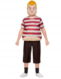 Addams-Family™-Kinderkostüm Pugsley Lizenzartikel braun-weiss-rot