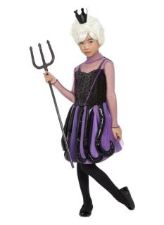Finstere Meereshexe Halloween-Mädchenkostüm schwarz-violett