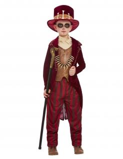 Voodoo-Kostüm für Jungen Magier Halloween rot- braun