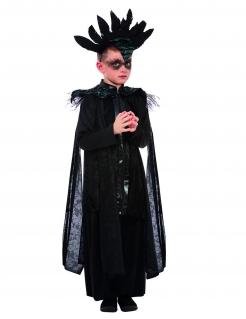 Raben-Prinz-Kostüm Gothic-Kinderkostüm schwarz