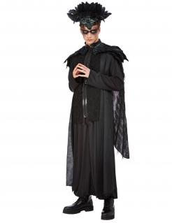 Krähen-Magier-Kostüm für Herren schwarz