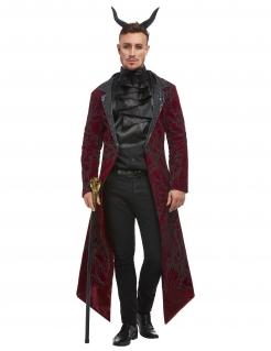 Teufelskostüm Halloweenkostüm für Erwachsene schwarz-rot