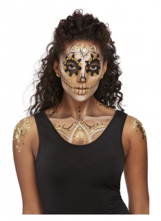 Edeles Halloween-Make-up gold