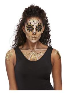 Edeles Halloween-Make-up gold