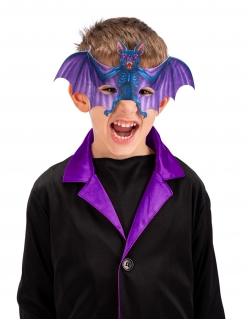 Fledermaus-Maske für Kinder Halloween-Halbmaske bunt