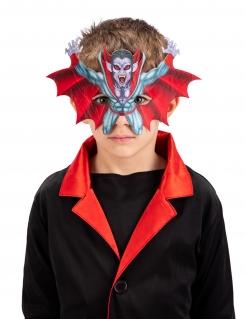 Vampir-Halbmaske für Kinder fliegender Blutsauger Halloween-Accessoire bunt