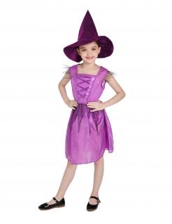 Freches Hexenkostüm für Kinder pink-lila