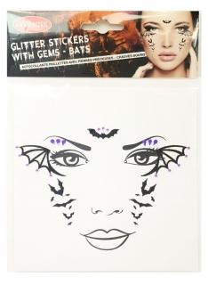 Fledermaus-Tattoos zum Aufkleben Halloween schwarz