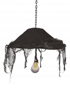 Halloween Deckenleuchte Lampenschirm Spukhaus 44 cm schwarz