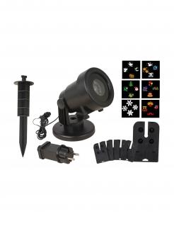 LED-Projektor mit 6 verschiedenen Motiven bunt