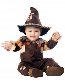 Vogelscheuche-Kostüm für Babys Halloween braun-orange