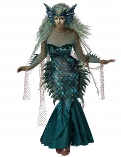 Böses Meerjungfrau-Kostüm Meerhexe-Kostüm schwarz-lila