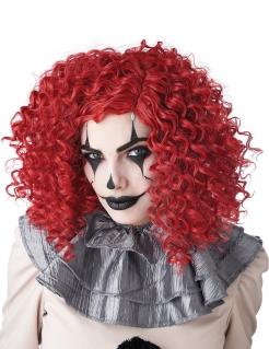 Hochwertige Horror-Clown-Perücke für Damen rot