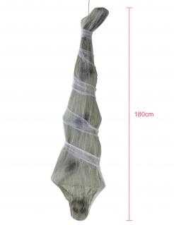 Mumifizierte Leiche Hängedeko Halloweendeko grau 180 cm