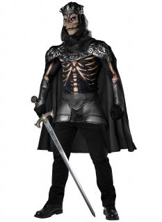 Kriegerisches Skelett-Kostüm für Herren Halloween schwarz