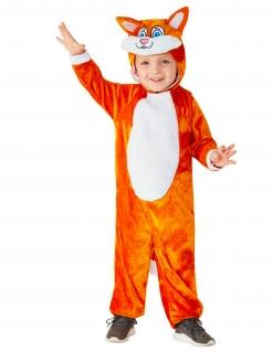 Fuchs-Kostüm für Kleinkinder Tier-Overall orange-weiss