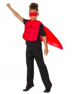 Superhelden-Set für Kinder mit Cape und Maske rot