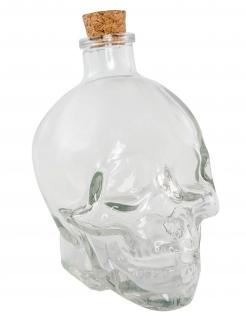 Totenkopf-Flasche Schädel Halloween-Deko durchsichtig