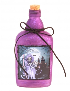 Gift-Flasche Halloween-Deko lila 19 cm