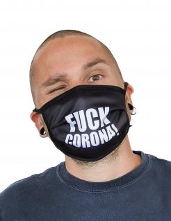 Mund-Nasen-Maske Fuck Corona Behelfsmaske beige