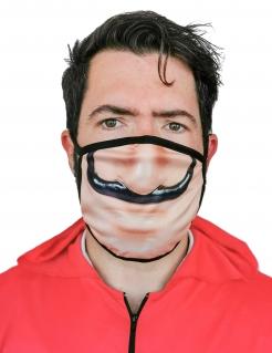Mund-Nasen-Maske Bankräuber Halloween-Behelfsmaske beige