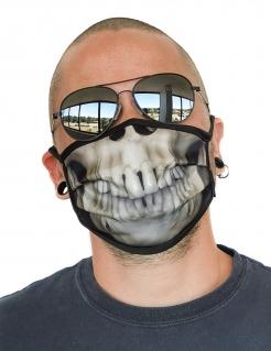 Skelett-Gesichtsmaske Totenkopf Behelfsmaske weiß-schwarz