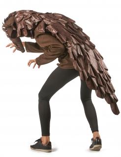 Schuppentier-Kostüm für Damen und Herren Halloween-Kostüm braun