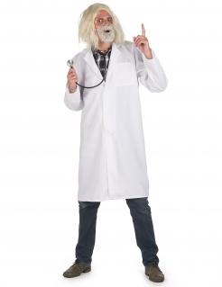Verrückter Professor-Kostüm für Herren Halloween-Kostüm weiss