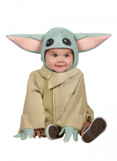 Yoda™-Baby-Kostüm Baby-Yoda™ grün-beige