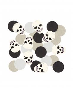 Skelett-Konfetti  Halloween 14 g schwarz-weiss