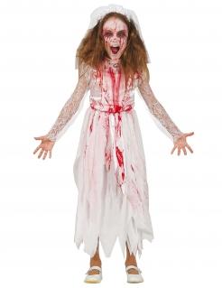 blutiges Brautkleid für Kinder, weiss