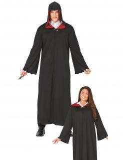 Zauberschüler Magier Halloween-Kostüm für Erwachsene schwarz-rot