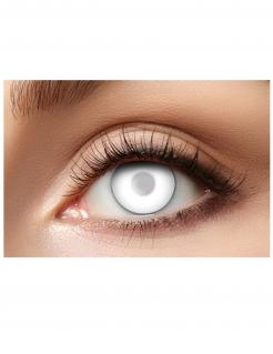 Halbtransparente Kontaktlinsen für Erwachsene Zombie-Kontaktlinsen 2 Stück weiss 14,5cm