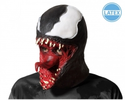 Alien-Maske für Erwachsene schwarz-weiß-rot