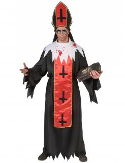 Satanischer-Papst-Kostüm für Halloween Horror-Papst schwarz-rot-weiss