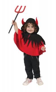 Baby Teufel-Umhang, rot-schwarz