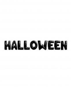 Halloween-Schriftzug-Ballons schwarz 9 Stück  40 cm