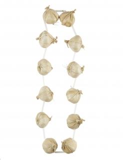 Knoblauchkette für Erwachsene, Vampir, Anti-Vampir, Vampir-Schreck, 48 cm